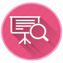 clipboard, lessons, log, management, project, search icon