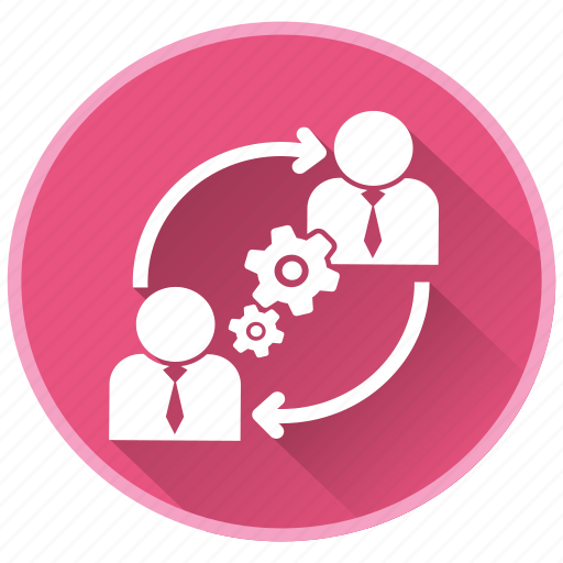 communication, gears, management, project, strategy icon