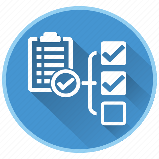 checklist, end, management, project, report icon