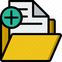 add, business, company, folder, startup icon