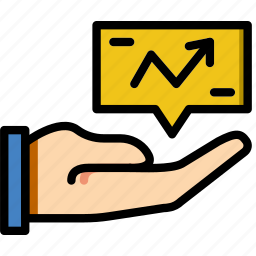 analytics, business, company, give, startup icon