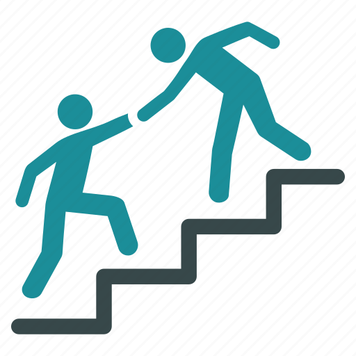 business help, collaboration, cooperation, handshake, support, training, upstairs icon