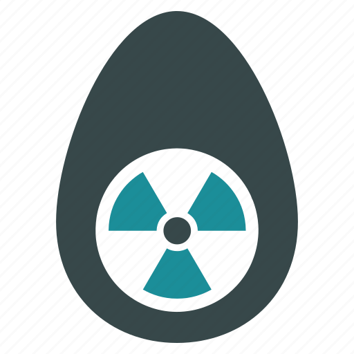 atomic, creation, egg, energy, physics, radiation, science icon