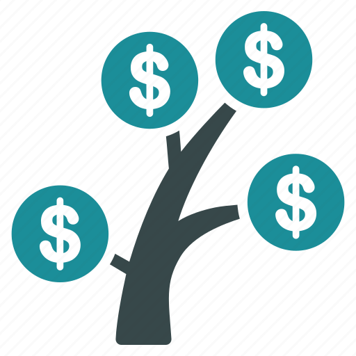 finance, money tree, nature, plant, profit, project icon