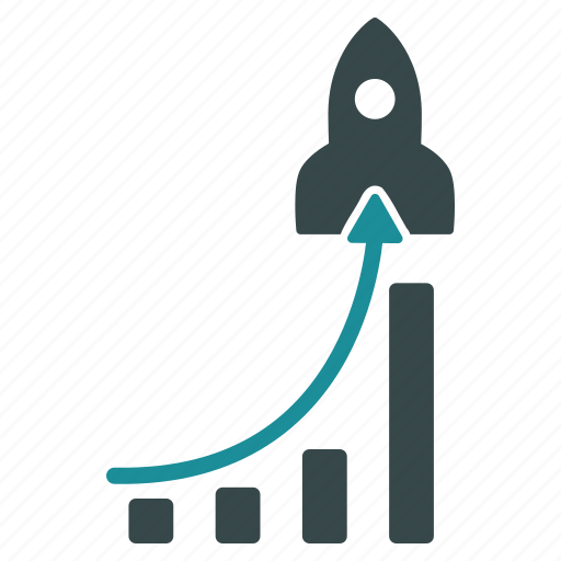 business, chart, launch, report, rocket, statistics, success icon