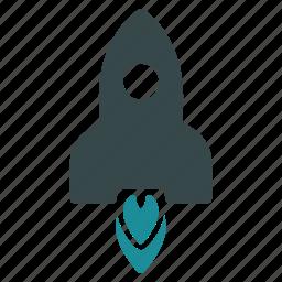 launch, rocket, satellite, science, spaceship, startup, technology icon