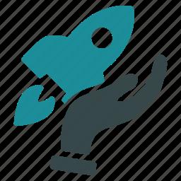 business, launch, rocket, start, startup, technology, venture icon