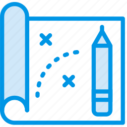 blueprint, business, company, startup icon