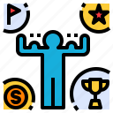 able, award, can, capable, strong icon