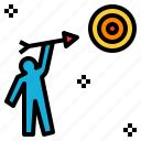 aim, goal, objective, purpose, subject, target icon