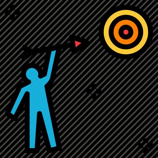 aim, goal, objective, purpose, subject, target icon