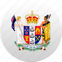 country, new zealand, nz, state, state emblem icon