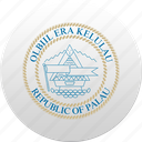 country, palau, state, state emblem icon
