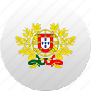 country, portugal, portuguese, state, state emblem icon