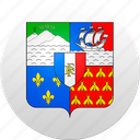 country, reunion, state, state emblem icon