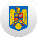 country, romania, romanian, rumania, state, state emblem icon