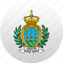 country, san marino, state, state emblem icon
