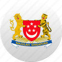 country, singapore, state, state emblem icon