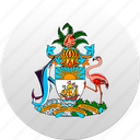 bahamas, country, state, state emblem icon