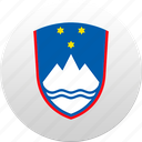 country, slovenia, state, state emblem icon