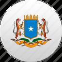country, somali, somalia, state, state emblem icon