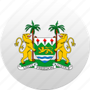 country, sierra leone, state, state emblem icon