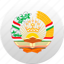 country, state, state emblem, tajikistan icon