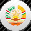 country, state, state emblem, tajikistan