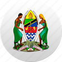 country, state, state emblem, tanzania icon