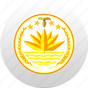 bangladesh, country, state, state emblem icon