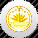 country, state, bangladesh, state emblem