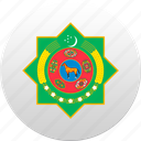 country, state, state emblem, turkmen, turkmenistan icon