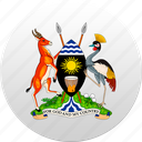 country, state, state emblem, uganda icon