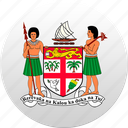 country, fiji, state, state emblem icon