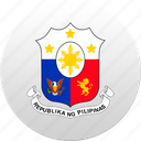 country, philippines, state, state emblem icon