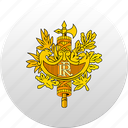 country, france, state, state emblem icon