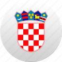 country, croatia, croatian, state, state emblem icon