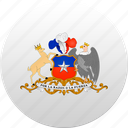 chile, country, state, state emblem icon