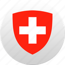 country, state, state emblem, swiss, switzerland icon