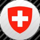 country, state, state emblem, swiss, switzerland icon