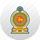 country, sri lanka, state, state emblem icon