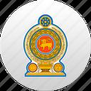 country, sri lanka, state, state emblem