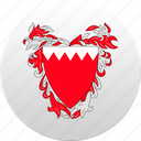 bahrain, country, state, state emblem icon