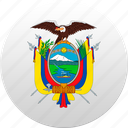 country, ecuador, state, state emblem icon