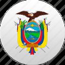 country, ecuador, state, state emblem