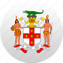 country, jamaica, state, state emblem icon