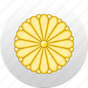 country, japan, state, state emblem icon