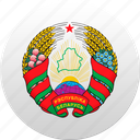 belarus, belorussia, country, state, state emblem icon