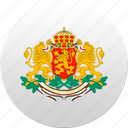 bulgaria, bulgarian, country, state, state emblem icon