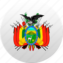 bolivia, country, state, state emblem icon
